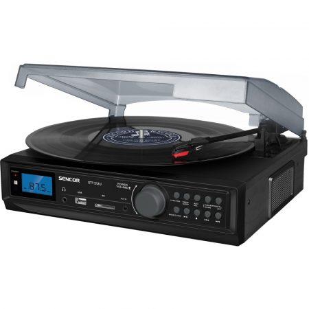 Sencor STT 212U Lemezjátszó USB/SD/FM/BT